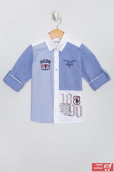 پیراهن پسرانه فروش مارک یو اس پولو رنگ آبی کد ty96315090