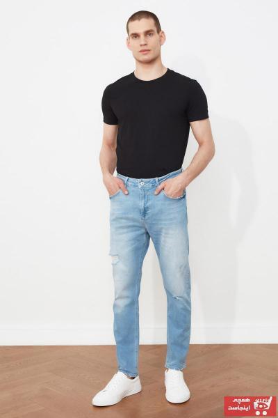 شلوار جین زمستانی مردانه مارک ترندیول مرد رنگ لاجوردی کد ty96499414