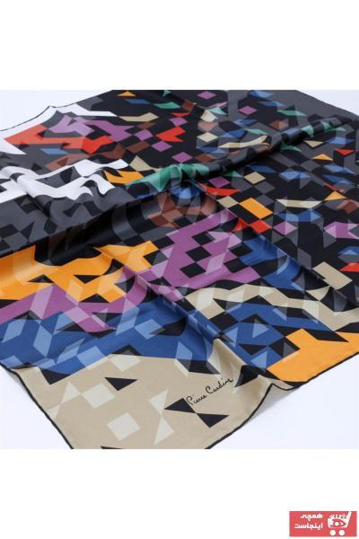 خرید پستی روسری زیبا زنانه مارک پیرکاردن رنگ لاجوردی کد ty97026106