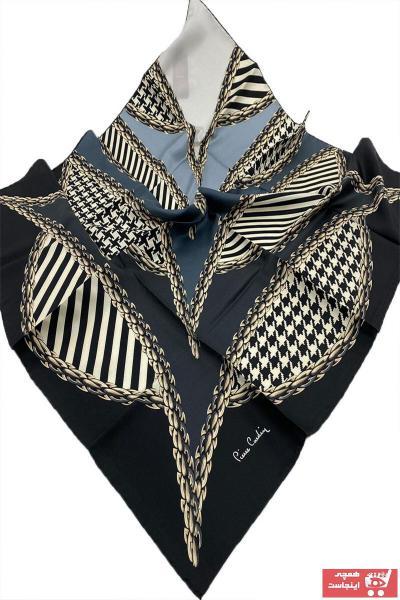 روسری زنانه تابستانی برند پیرکاردن رنگ مشکی کد ty97100671