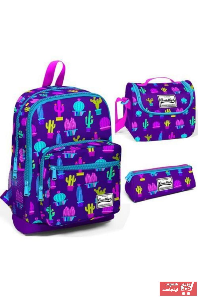 کیف مدرسه بچه گانه دخترانه ترک مجلسی برند Yaygan رنگ بنفش کد ty97546207