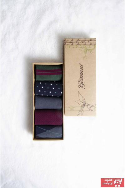 فروشگاه جوراب مردانه اینترنتی برند Göznuru Socks رنگ زرشکی ty97547006