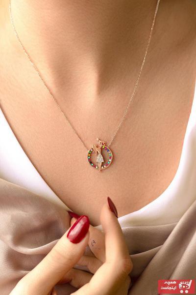 خرید مدل گردنبند زنانه برند BY BARUN SİLVER رنگ صورتی ty97565161