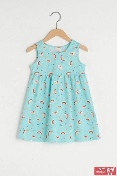 لباس مجلسی نوزاد دخترانه مارک دار مارک ال سی وایکیکی رنگ صورتی ty97856246