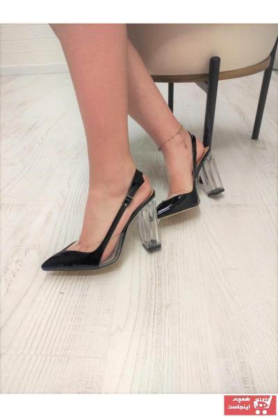خرید انلاین کفش پاشنه بلند مجلسی طرح دار برند TUUBA SHOES رنگ مشکی کد ty97868189