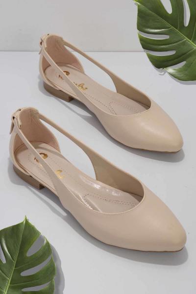 خرید پستی کفش تخت زیبا برند بامبی رنگ بژ کد ty97904052