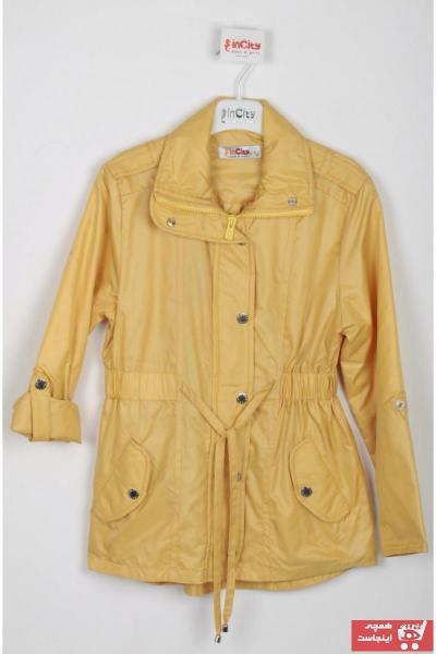 بارانی بلند برند incity رنگ زرد ty98422676