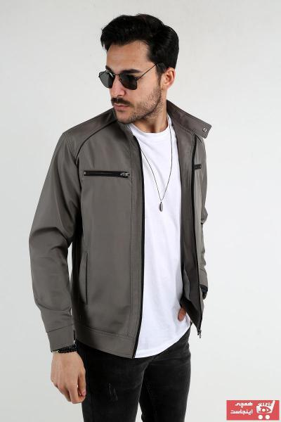 خرید انلاین کاپشن مردانه خاص برند REGOS رنگ نقره ای کد ty98498539
