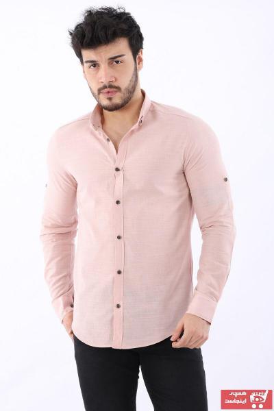 خرید پیراهن مردانه از ترکیه برند Arlin رنگ صورتی ty99086474