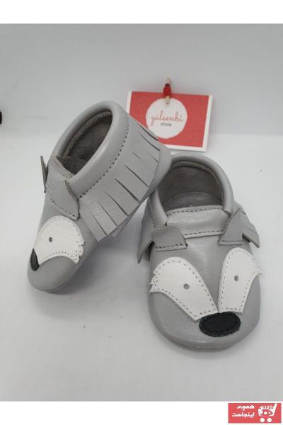 کفش تخت نوزاد پسر نگیندار برند gülsenbi store رنگ نقره ای کد ty99353597