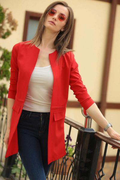 ژاکت زنانه مدل دار برند armonika رنگ قرمز ty2763408