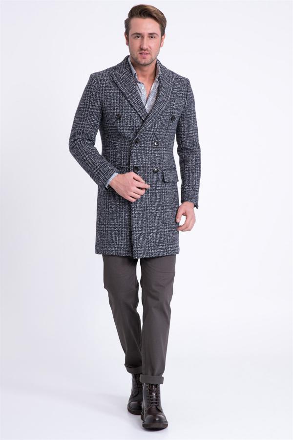 پالتو مردانه فروشگاه اینترنتی برند Lufian رنگ نقره ای کد ty2997052