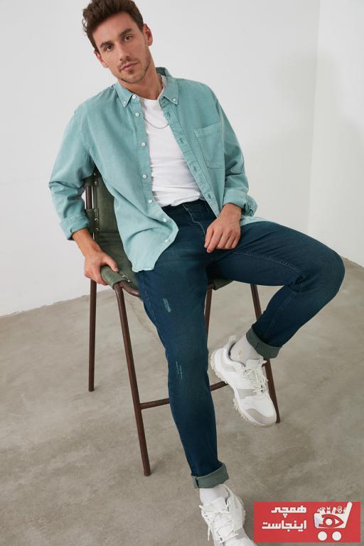 خرید پستی شلوار جین زیبا مردانه برند ترندیول مرد رنگ لاجوردی کد ty31263397