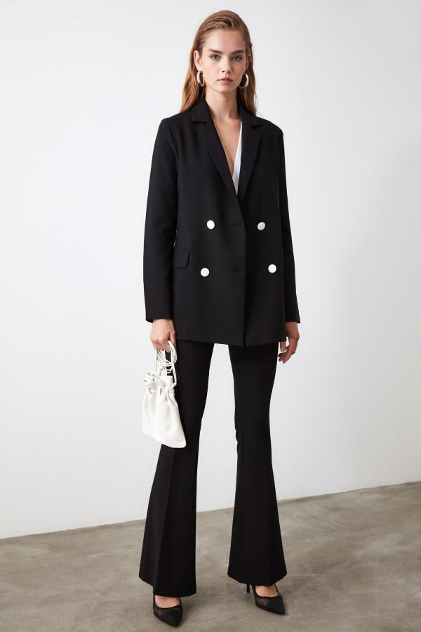 ژاکت زنانه ست برند ترندیول میلا رنگ مشکی کد ty31340874