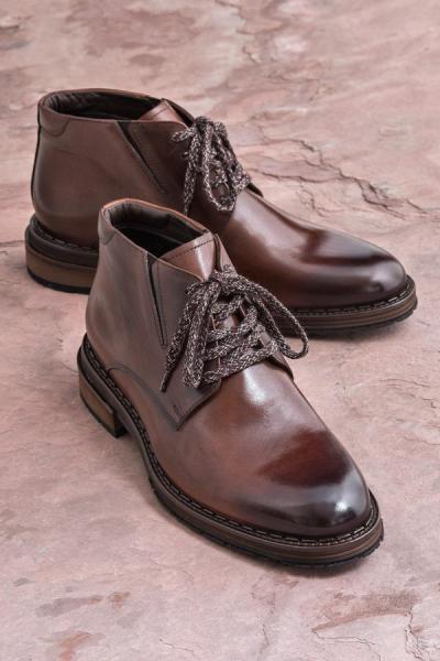 فروش بوت مردانه ترک مجلسی برند Elle Shoes رنگ قهوه ای کد ty31616669