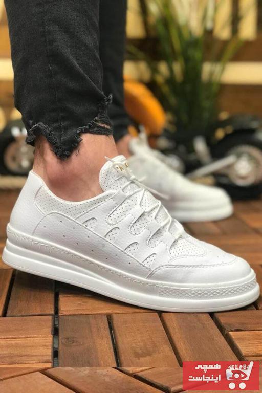 خرید پستی کفش مخصوص پیاده روی شیک مردانه برن Chekich رنگ سفید ty31651663