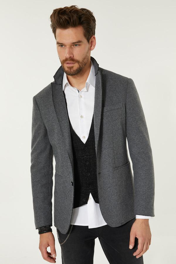 سفارش ژاکت مردانه ارزان برند آوا رنگ نقره ای کد ty31708593