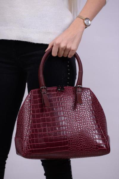 خرید نقدی کیف دستی پاییزی دخترانه برند Housebags رنگ زرشکی ty31777005