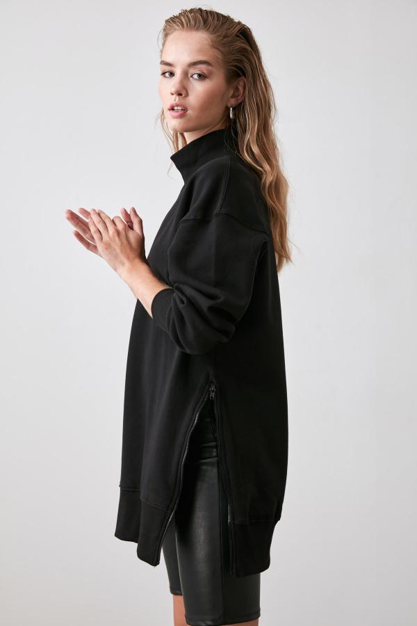 سویشرت زنانه حراجی برند TRENDYOLMİLLA رنگ مشکی کد ty31813885