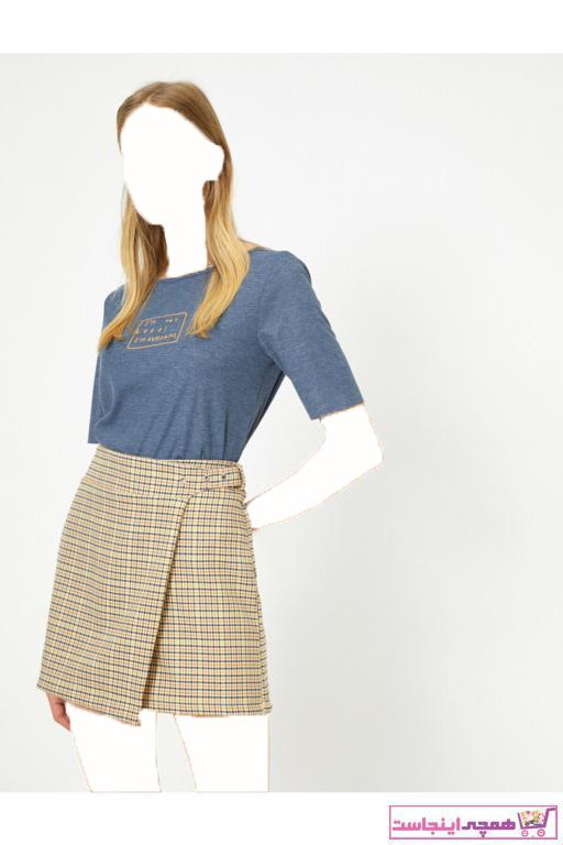فروشگاه تیشرت زنانه تابستانی برند کوتون رنگ لاجوردی کد ty31994195