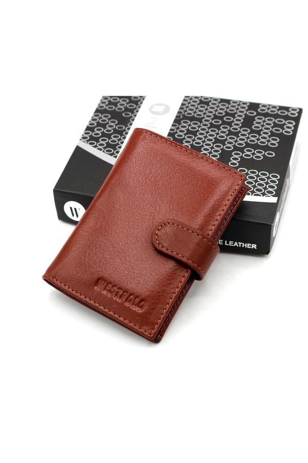 کیف کارت بانکی مردانه اصل برند WEST POLO CÜZDAN رنگ قهوه ای کد ty32084310