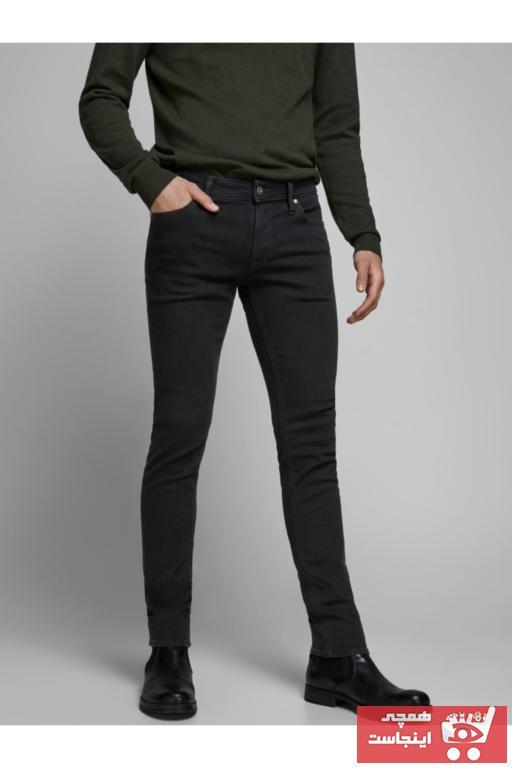 سفارش اینترنتی شلوار جین فانتزی برند Jack Jones رنگ مشکی کد ty32122458