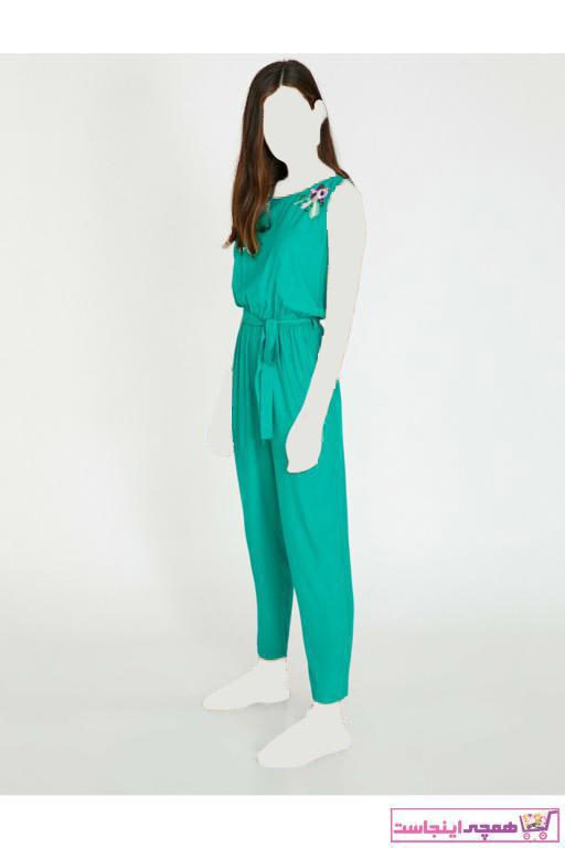 تولوم زنانه مدل دار برند کوتون رنگ سبز کد ty3220035