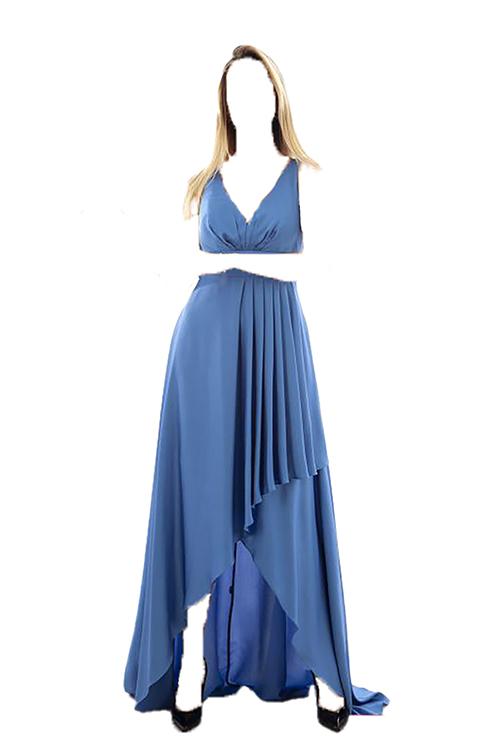 لباس مجلسی زنانه کوتاه برند Ardanewline رنگ لاجوردی کد ty32450753