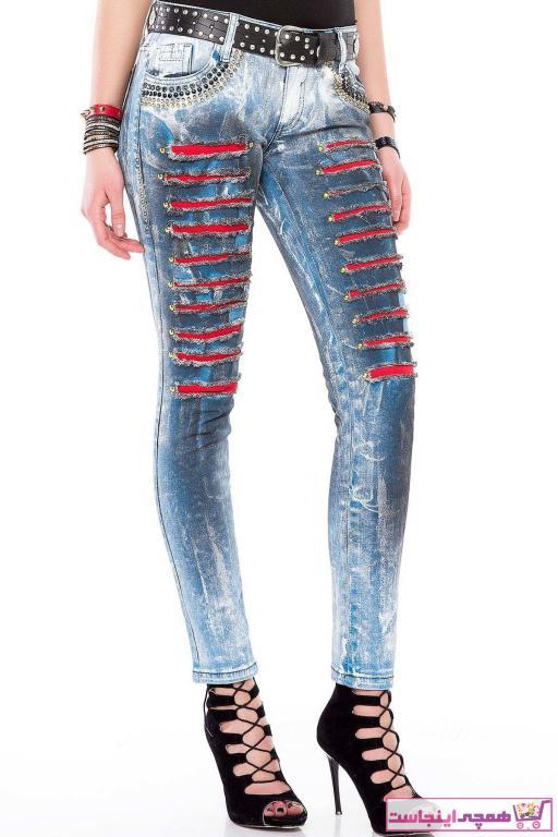 خرید نقدی شلوار جین پاییزی زنانه برند Cipo&Baxx رنگ آبی کد ty32525513