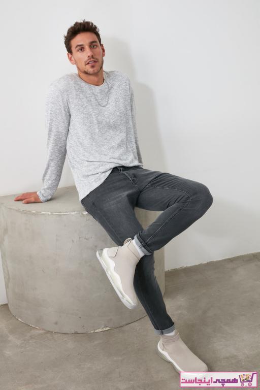فروشگاه شلوار جین مردانه اینترنتی مارک ترندیول مرد رنگ نقره ای کد ty32586156