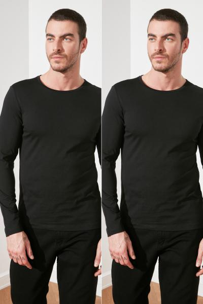 تی شرت جدید برند ترندیول مرد رنگ مشکی کد ty32601071