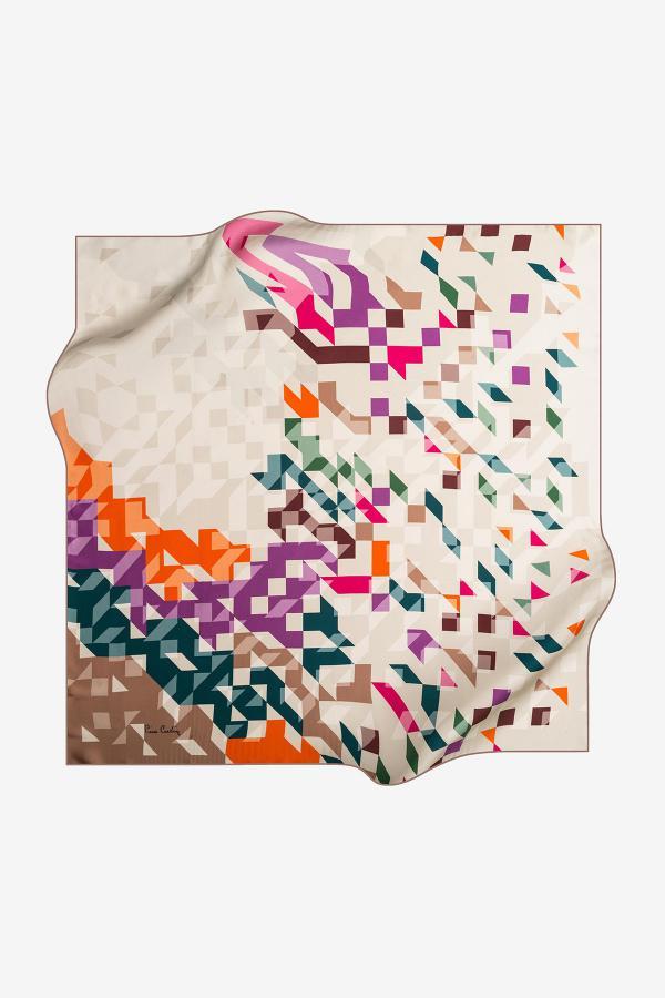 خرید انلاین روسری زنانه خاص مارک پیرکاردین رنگ طلایی ty32620806