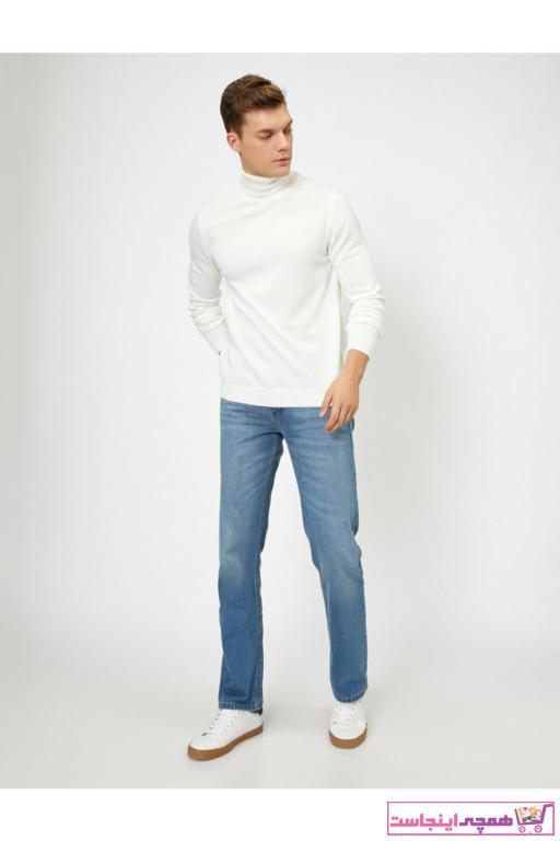 شلوار جین مردانه فانتزی برند کوتون رنگ آبی کد ty32777526