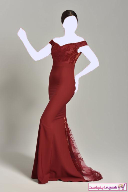 خرید نقدی لباس مجلسی زنانه فروشگاه اینترنتی برند Modakapimda رنگ زرشکی ty32875397
