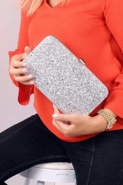 کیف دستی جدید زنانه اصل برند WMİLANO رنگ نقره کد ty3305987