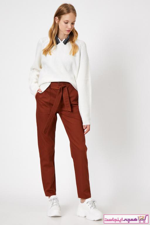 خرید شلوار زنانه شیک برند کوتون رنگ قرمز ty33362252