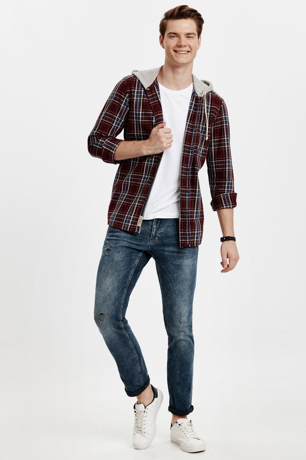 فروش شلوار جین مردانه خفن مارک ال سی وایکیکی رنگ خاکی کد ty3353888