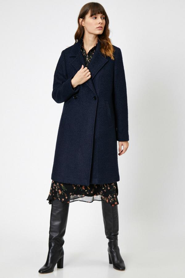 پالتو خاص زنانه برند کوتون رنگ لاجوردی کد ty33681472