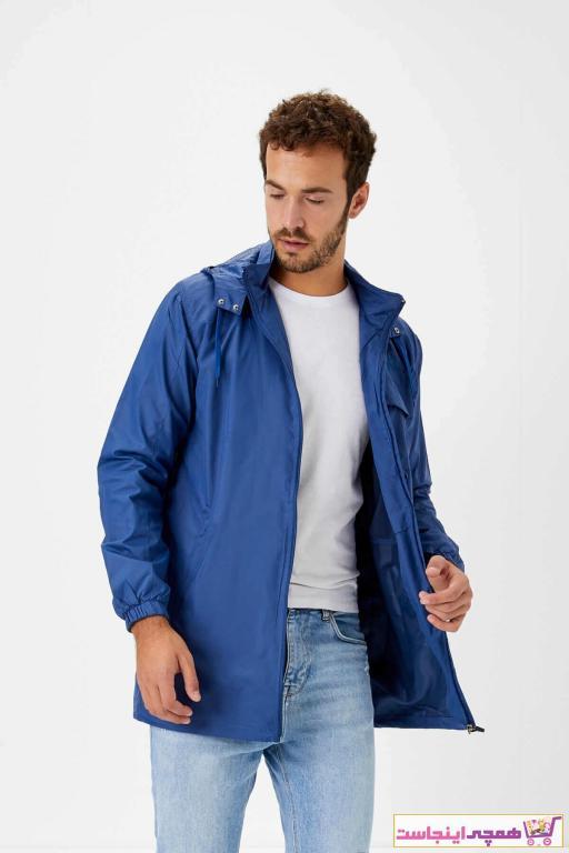 بارانی مردانه با قیمت برند Haşema رنگ آبی کد ty33851052
