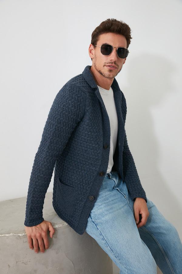 خرید مدل هودی مردانه مارک ترندیول مرد رنگ لاجوردی کد ty33859947