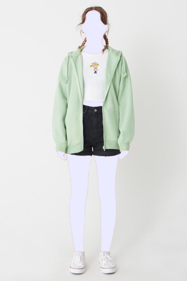 خرید نقدی سویشرت زنانه برند Addax رنگ سبز کد ty33910548