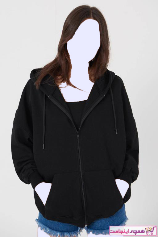 سویشرت زنانه زیبا برند Addax رنگ مشکی کد ty33910550