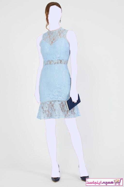 لباس مجلسی خاص زنانه برند Shine İstanbul رنگ آبی کد ty33919477
