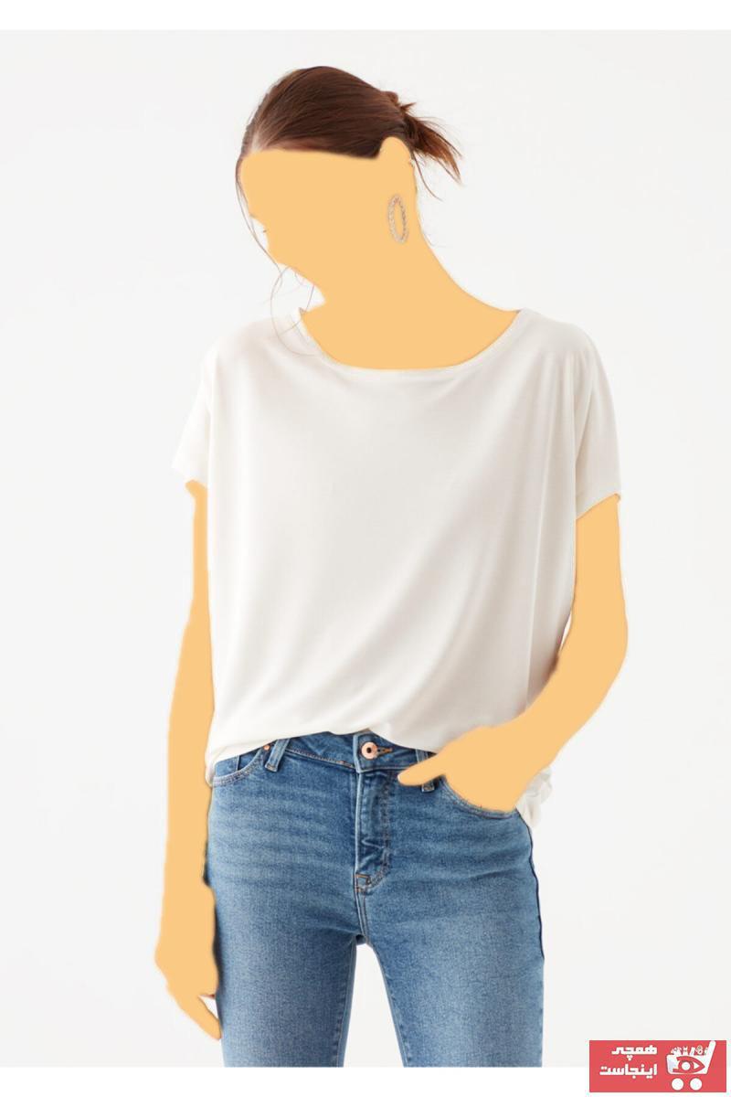تیشرت زنانه مارک دار برند ماوی کد ty3409815