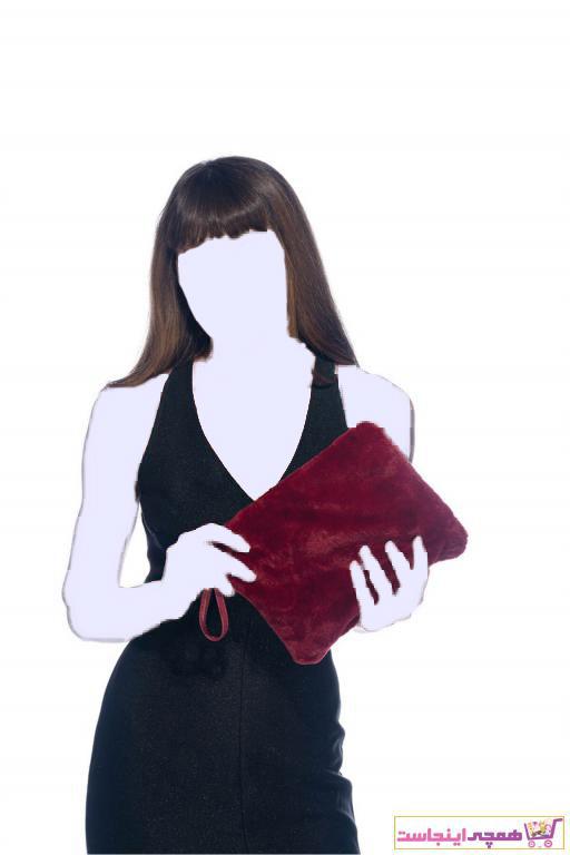 کیف دستی دخترانه مارک دار برند David Jones رنگ زرشکی ty34256060