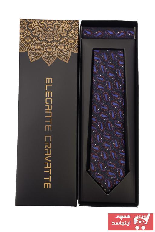 کراوات ترک برند Elegante Cravatte رنگ زرشکی ty34381369
