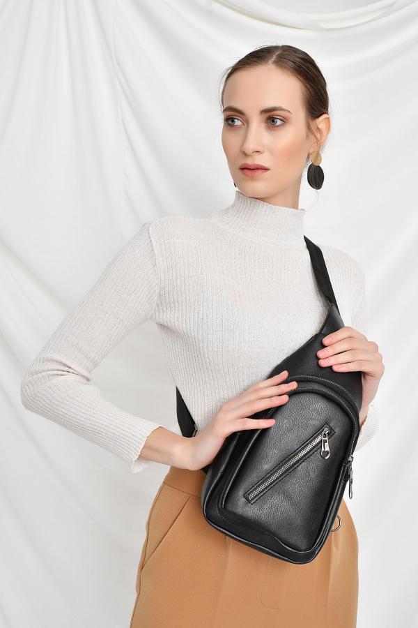 کیف کمری زنانه مدل 2020 برند Bagzone رنگ مشکی کد ty34405847