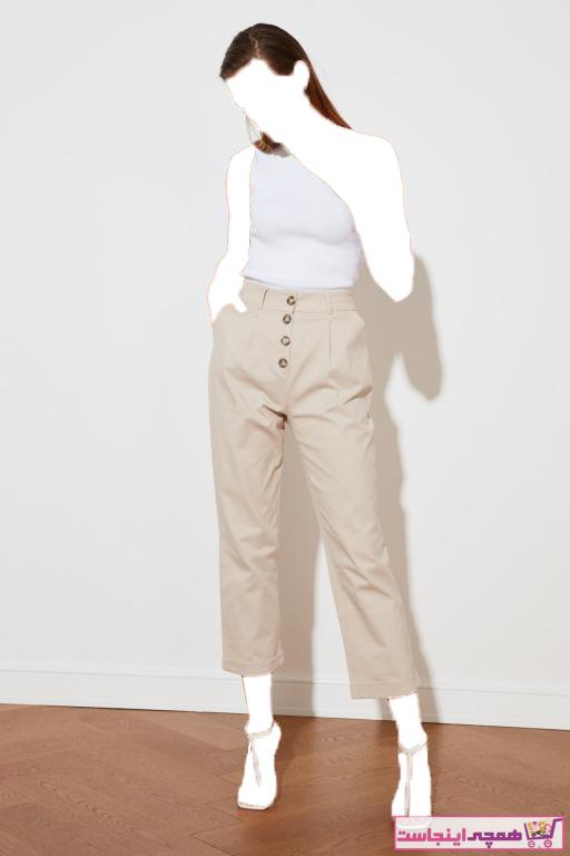 خرید شلوار زنانه ترک جدید برند ترندیول میلا رنگ نقره ای کد ty34416938