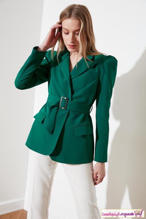 ژاکت زنانه ارزان برند ترندیول میلا رنگ سبز کد ty34432905