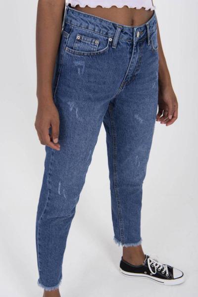 شلوار جین زنانه نخی برند Addax رنگ لاجوردی کد ty34440054